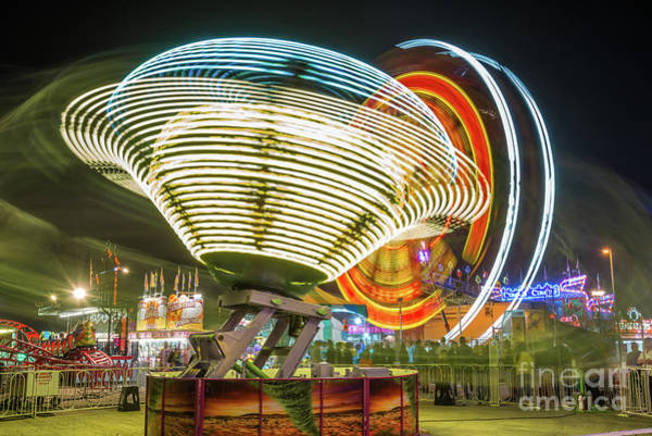 Carnival Rides Wall Art - Photograph - The Martians Are Coming by Paul Quinn