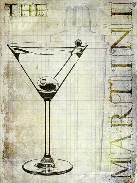 Recipe Photograph - The Martini by Jon Neidert