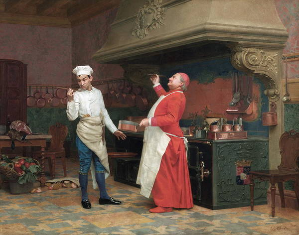 Wall Art - Painting - The Marvelous Sauce by Jehan Georges Vibert