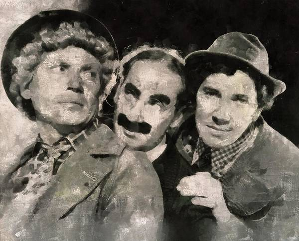 Stardom Painting - The Marx Brothers by Mary Bassett