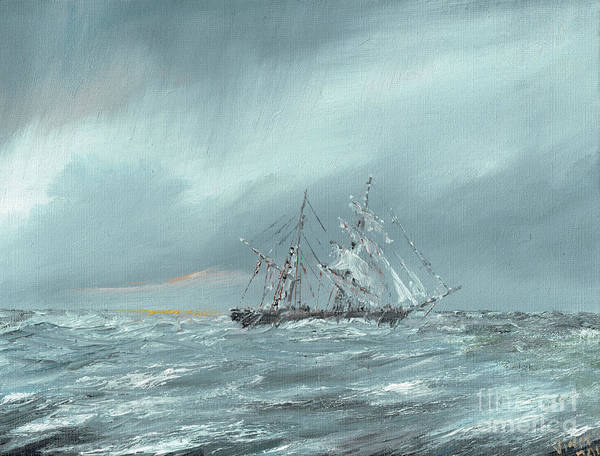 Wall Art - Painting - The Mary Celeste Adrift December 5th 1872 by Vincent Alexander Booth