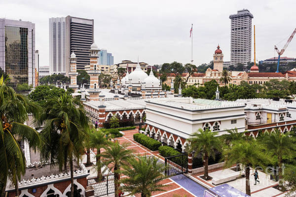 Photograph - The Masjid Jamek Or Friday Mosque And The Sultan Abdul Samad Buil by Didier Marti