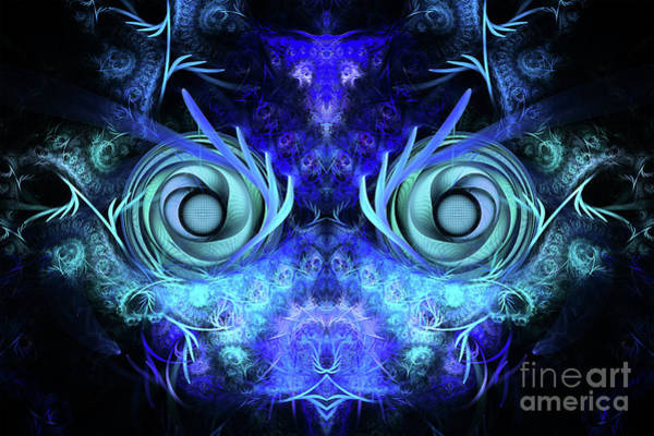 Flames Digital Art - The Mask by John Edwards