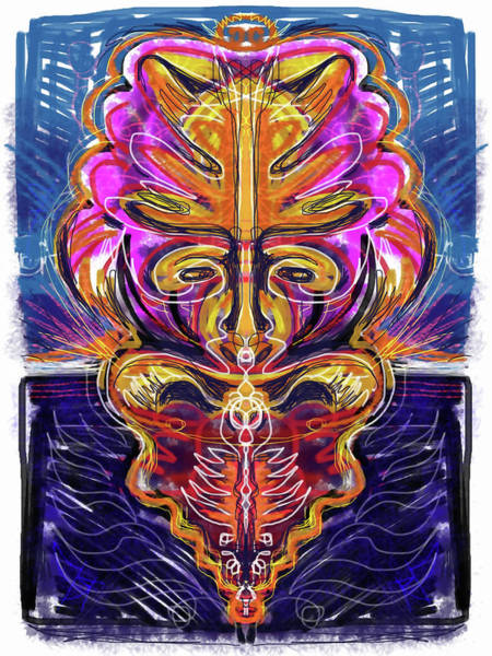 Voodoo Digital Art - The Mask by Russell Pierce