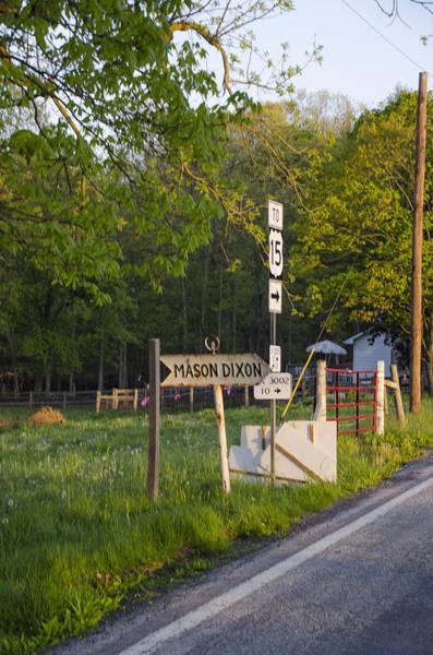 Photograph - The Mason Dixon Line - Pennsylvania - Maryland Border by Bill Cannon