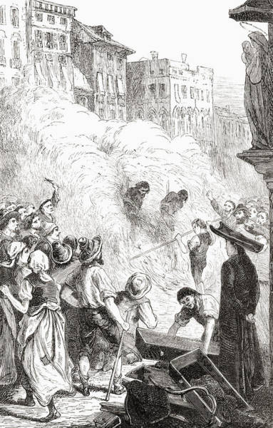 Suffering Drawing - The Massacre Of Protestants At by Vintage Design Pics