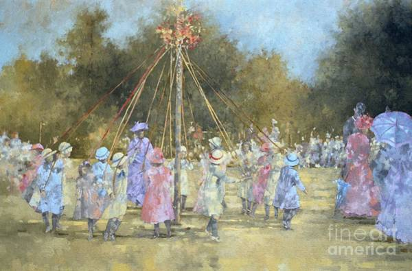 Traditional Dances Painting - The Maypole  by Peter Miller