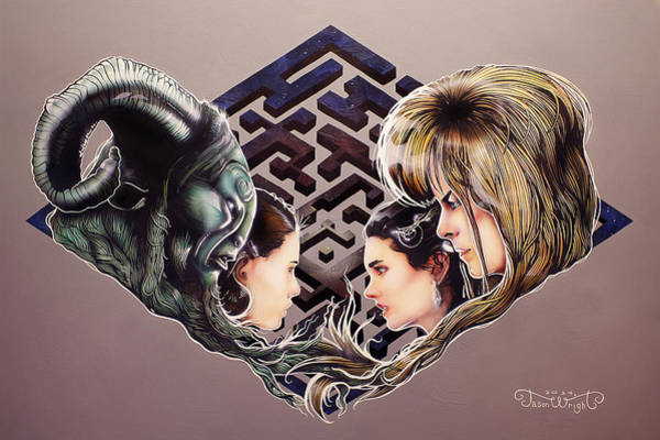David Bowie Painting - The Maze Makers  by Jason  Wright