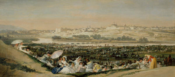 Painting - The Meadow Of San Isidro by Francisco Goya
