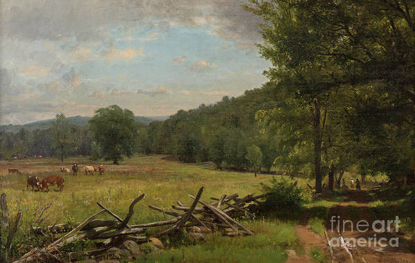 Wall Art - Painting - The Meadow by Thomas Worthington Whittredge