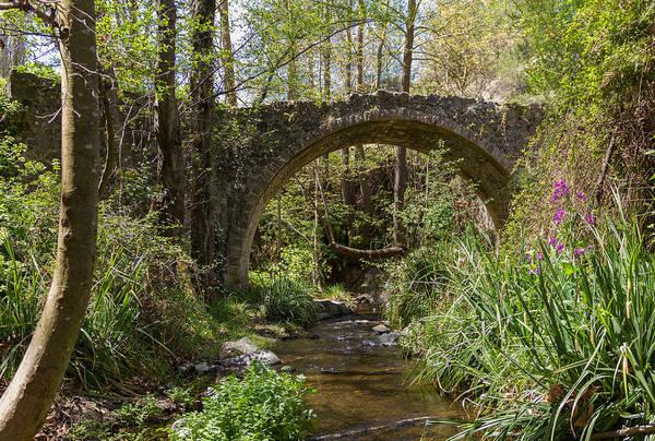 Stone Wall Art - Photograph - Medieval Bridge Of Tris Elies by Iordanis Pallikaras