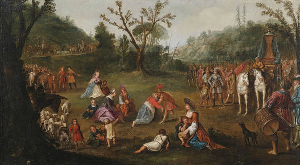 Wall Art - Painting - The Meeting Of Alexander The Great With The Family Darius IIi After The Defeat In The Battle Of Issu by Attributed to Esaias van de Velde