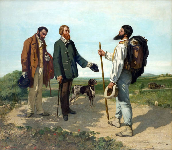Painting - The Meeting Or Bonjour, Monsieur Courbet by Gustave Courbet