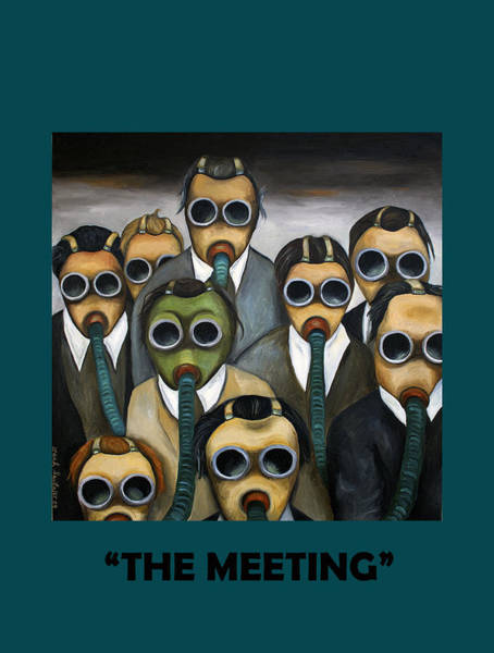 Painting - The Meeting With Lettering by Leah Saulnier The Painting Maniac