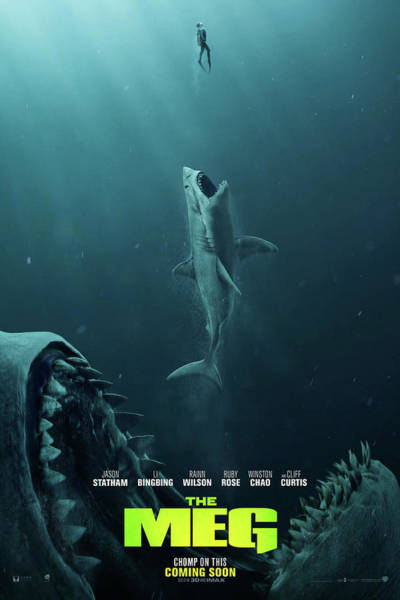 Mixed Media - The Meg Theater Poster by Movie Poster Prints