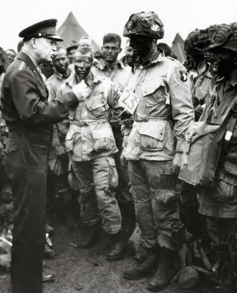 Wall Art - Photograph - The Men Of Company E Of The 502nd Parachute Infantry Regiment Before D Day by American School