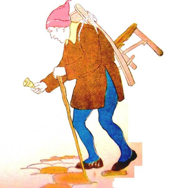 White Goose Drawing - The Mender by Lord Frederick Lyle Morris - Disabled Veteran