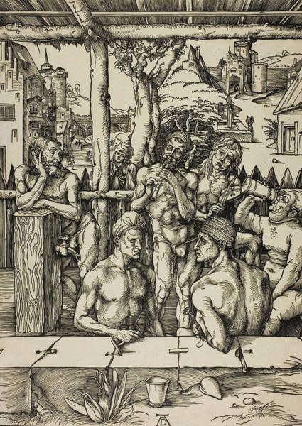 Albrecht Durer Wall Art - Relief - The Men's Bath by Albrecht Durer