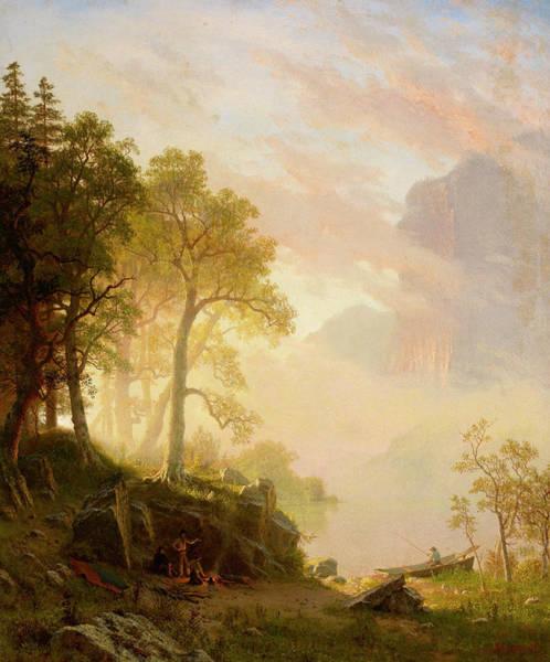 Hudson Valley Wall Art - Painting - The Merced River In Yosemite, 1868 by Albert Bierstadt