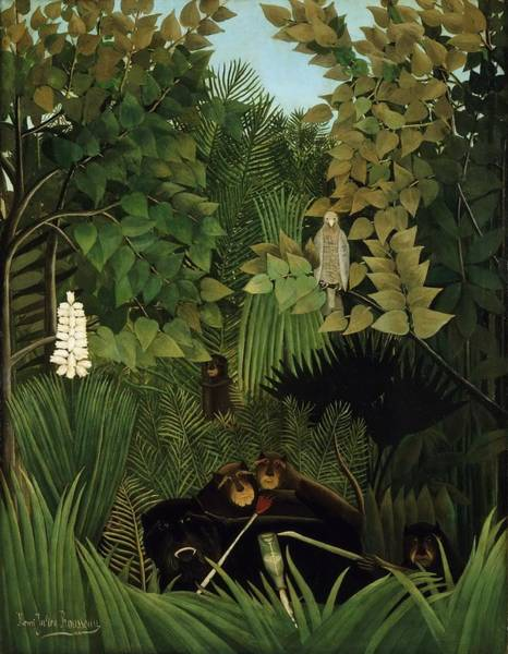 Painting - The Merry Jesters by Henri Rousseau