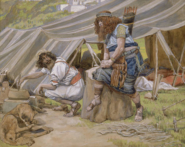Photograph - The Mess Of Pottage by James Tissot