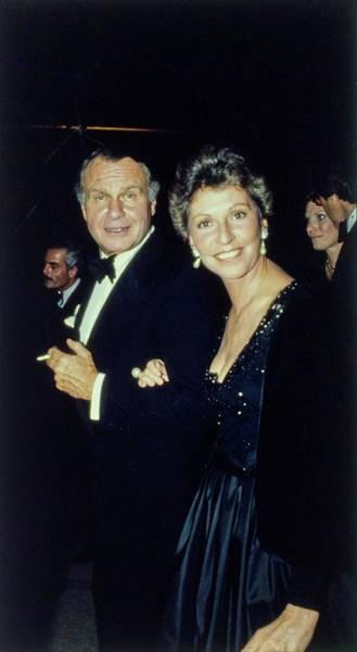 Photograph - The Met Set Bill Blass And Geraldine Stutz by Tony Palmieri