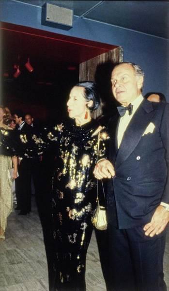 Photograph - The Met Set Diana Vreeland And Bill Blass by Tony Palmieri