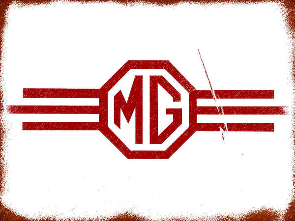 Classic Car Photograph - The Mg Sign by Mark Rogan
