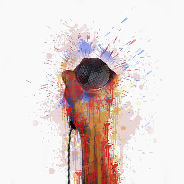 Wire Mixed Media - The Mic by Art Spectrum