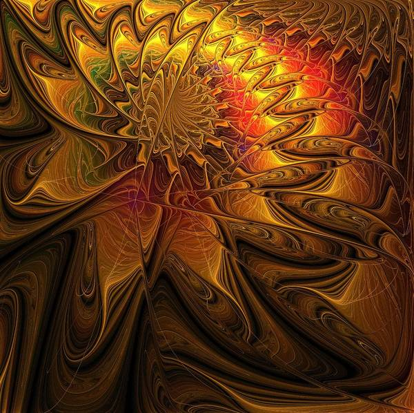 Apophysis Digital Art - The Midas Touch by Amanda Moore