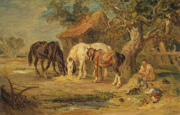 Ward Painting - The Midday Meal by James Ward