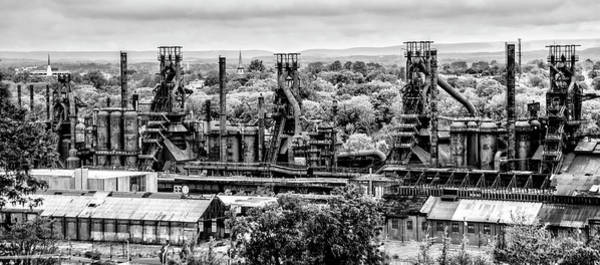Photograph - The Might Bethlehem Steel In Black And White by Bill Cannon