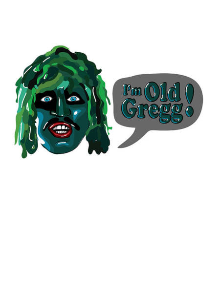 Print On Demand Digital Art - The Mighty Boosh - I'm Old Gregg by Paul Telling