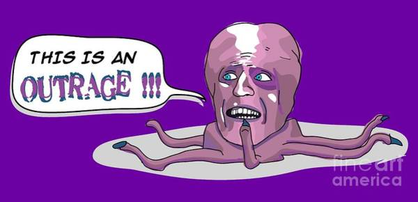 Outfit Digital Art - The Mighty Boosh Tv Series This Is An Outrage  What Do You Know Of The Crunch Tony Harrison Bbc Come by Paul Telling