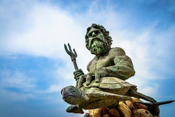 Photograph - The Mighty King Neptune by Michael Scott