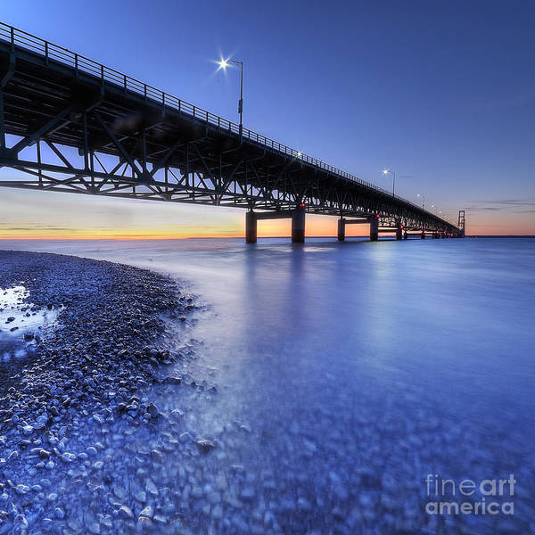 Upper Peninsula Wall Art - Photograph - The Mighty Mac by Twenty Two North Photography