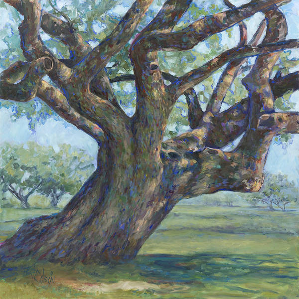 Texas Painting - The Mighty Oak by Billie Colson