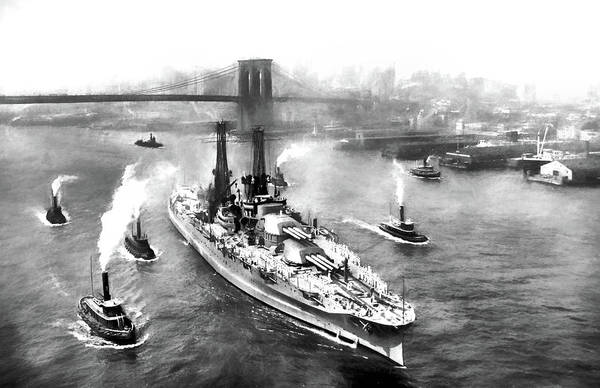 Photograph - The Mighty Pennsylvania Sailing From New York City by JC Findley