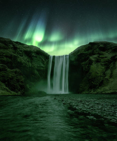 Northern Photograph - The Mighty Skogafoss by Tor-Ivar Naess
