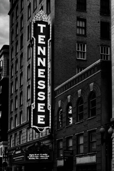 Photograph - The Mighty Tennessee Black And White by Sharon Popek
