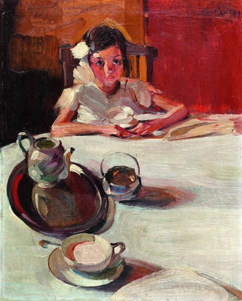 Painting - The Milk by Nikolaos Lytras
