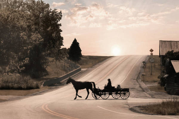 Amish Country Photograph - The Milk Run by Lori Deiter