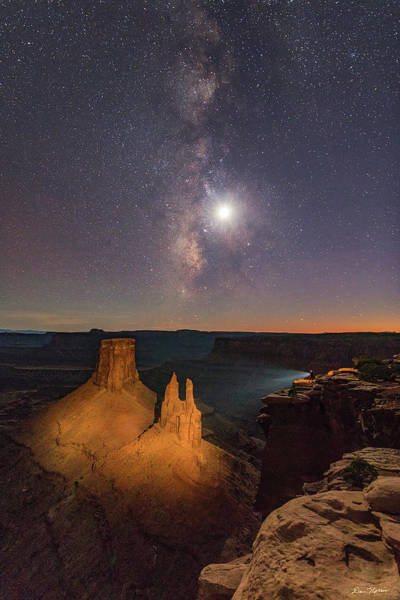 Photograph - The Milky Way And The Moon From Marlboro Point by Dan Norris