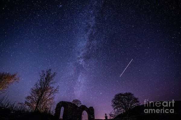Photograph - The Milky Way Over Strata Florida Abbey, Ceredigion Wales Uk by Keith Morris