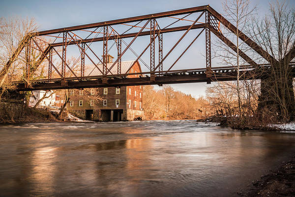 Photograph - The Mill And Bridge by Kristopher Schoenleber