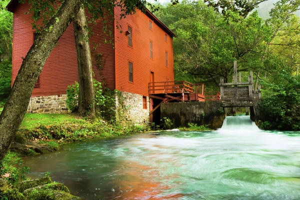 Photograph - The Mill At Alley Spring - Eminence Missouri by Gregory Ballos