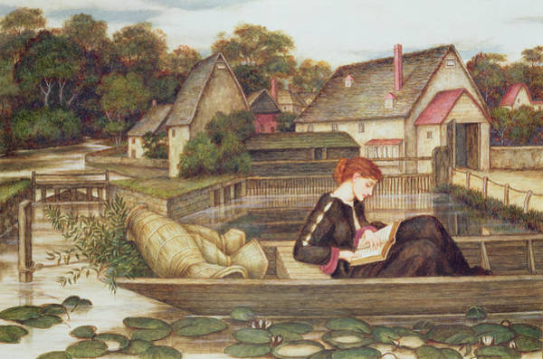 Woman Reading Wall Art - Painting - The Mill by John Roddam Spencer Stanhope