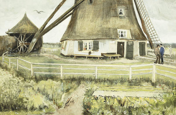 Windmill Painting - The Mill by Vincent Van Gogh