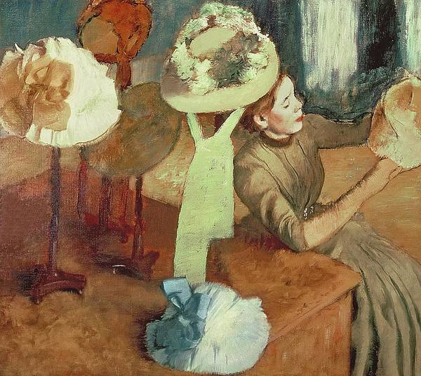 1834 Wall Art - Pastel - The Millinery Shop by Edgar Degas