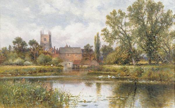 Wall Art - Painting - The Millpond by Alfred Glendening